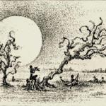 月の出 90×180mm